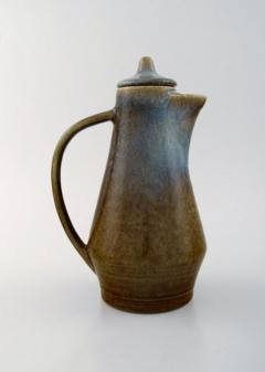 Carl Harry St lhane Jug with lid in glazed stoneware - 1370963