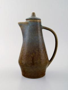 Carl Harry St lhane Jug with lid in glazed stoneware - 1370976