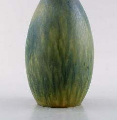 Carl Harry St lhane Large ceramic vase with narrow neck Beautiful glaze in blue green shades - 1238555