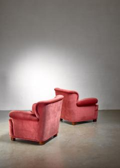Carl Johan Boman Carl Johan Boman pair of easy chairs Finland 1940s - 1138669