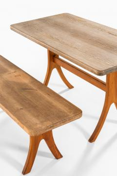Carl Malmsten Bench and Dining Table Produced in Sweden - 1860719