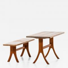 Carl Malmsten Bench and Dining Table Produced in Sweden - 1864350