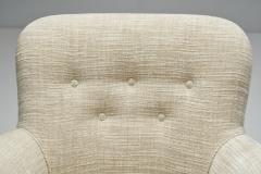 Carl Malmsten Carl Malmsten Upholstered Armchairs for O H Sj gren Sweden 1960s - 2079143
