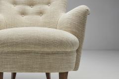 Carl Malmsten Carl Malmsten Upholstered Armchairs for O H Sj gren Sweden 1960s - 2079145