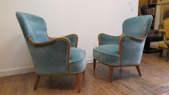 Carl Malmsten Pair of Carl Malmsten Lounge chairs - 767097