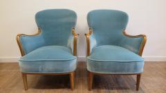 Carl Malmsten Pair of Carl Malmsten Lounge chairs - 767099