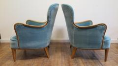 Carl Malmsten Pair of Carl Malmsten Lounge chairs - 767100