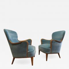 Carl Malmsten Pair of Carl Malmsten Lounge chairs - 770063