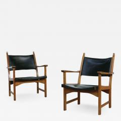 Carl Malmsten Pair of Caryngo Chairs by Carl Malmsten and Yngve Ekstr m - 1797795