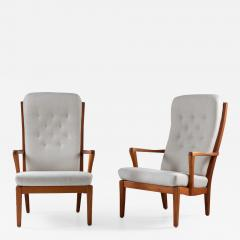 Carl Malmsten Pair of Scandinavian Midcentury Lounge Chairs by Carl Malmsten - 1620945