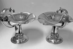 Carl Poul Petersen Pair Carl Poul Petersen Sterling Silver Compotes Montreal C 1940 - 1256285