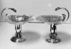 Carl Poul Petersen Pair of Carl Poul Petersen Sterling Silver Compotes Montreal C 1940 - 1676857