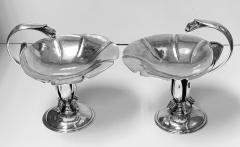 Carl Poul Petersen Pair of Carl Poul Petersen Sterling Silver Compotes Montreal C 1940 - 1676859
