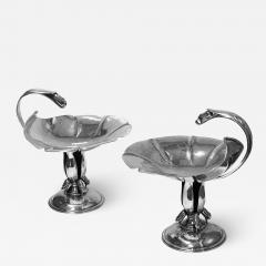 Carl Poul Petersen Pair of Carl Poul Petersen Sterling Silver Compotes Montreal C 1940 - 1677504