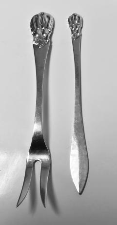 Carl Poul Petersen Rare Carl Poul Petersen Seafood Lobster Fork and Lobster Pick Knife - 1256245