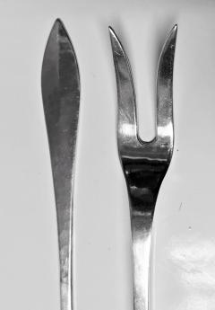Carl Poul Petersen Rare Carl Poul Petersen Seafood Lobster Fork and Lobster Pick Knife - 1256246