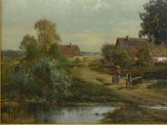 Carl Weber Bamberg Bavaria 1880 Pastoral Landscape Painting by Carl Weber - 1117281
