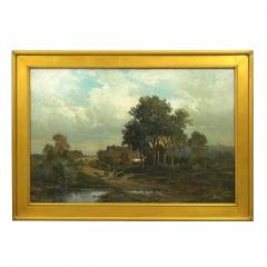Carl Weber Bamberg Bavaria 1880 Pastoral Landscape Painting by Carl Weber - 1117282
