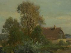 Carl Weber Bamberg Bavaria 1880 Pastoral Landscape Painting by Carl Weber - 1117283