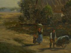 Carl Weber Bamberg Bavaria 1880 Pastoral Landscape Painting by Carl Weber - 1117284