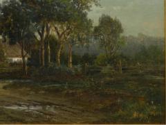 Carl Weber Bamberg Bavaria 1880 Pastoral Landscape Painting by Carl Weber - 1117286