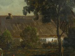Carl Weber Bamberg Bavaria 1880 Pastoral Landscape Painting by Carl Weber - 1117287