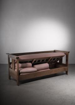 Carl Westman Carl Westman pine Art Nouveau sofa - 2068573