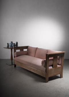 Carl Westman Carl Westman pine Art Nouveau sofa - 2068574