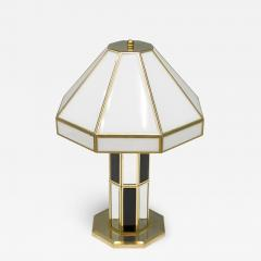 Carl Zalloni Rare Glass Mirror and Brass Table Lamp by Carl Zalloni for Cazal 1969 - 1155654