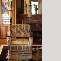 Carlo Bugatti Pair of Carlo Bugatti Throne Arm Chairs - 458958