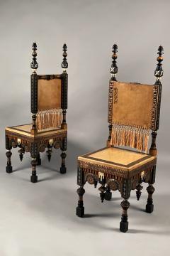 Carlo Bugatti Pair of Chairs - 1819971