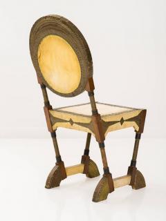Carlo Bugatti Rare and Unusual Form Chair by Carlo Bugatti - 342911