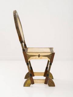 Carlo Bugatti Rare and Unusual Form Chair by Carlo Bugatti - 342913