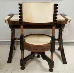 Carlo Bugatti Style Writing Desk with Chair - 1044203