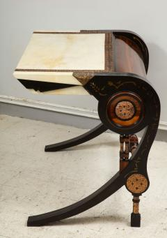 Carlo Bugatti Style Writing Desk with Chair - 1044212