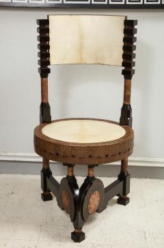 Carlo Bugatti Style Writing Desk with Chair - 1044238