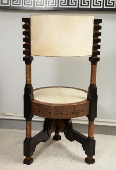 Carlo Bugatti Style Writing Desk with Chair - 1044239