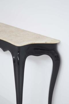 Carlo Enrico Rava Italian Vintage Console in Marble and Wood by Carlo Enrico Rava - 2079096