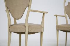 Carlo Enrico Rava Italian white Chairs by Carlo Enrico Rava in lacquered ash six pieces 1950s - 1556252