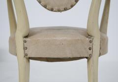 Carlo Enrico Rava Italian white Chairs by Carlo Enrico Rava in lacquered ash six pieces 1950s - 1556258