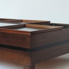 Carlo Hauner Carlo Hauner Large Coffee Table with Various Compartments for Forma Italy 1960s - 1528802