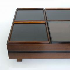 Carlo Hauner Carlo Hauner Large Coffee Table with Various Compartments for Forma Italy 1960s - 1528803