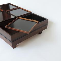 Carlo Hauner Carlo Hauner Large Coffee Table with Various Compartments for Forma Italy 1960s - 1528804