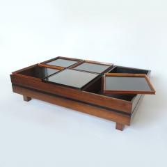 Carlo Hauner Carlo Hauner Large Coffee Table with Various Compartments for Forma Italy 1960s - 1528805