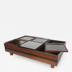 Carlo Hauner Carlo Hauner Large Coffee Table with Various Compartments for Forma Italy 1960s - 1530400