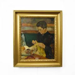 Carlo Hornung Jensen Woman with Needlework - 326980