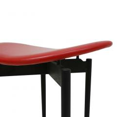 Carlo Mollino Mid Century Set of Four Lutrario Stools Designed by Carlo Mollino Italy 1959 - 2079017