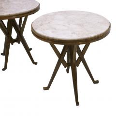 Carlo Mollino Pair Of Attribuited Carlo Mollino Ashwood Italian Side Tables - 1544974