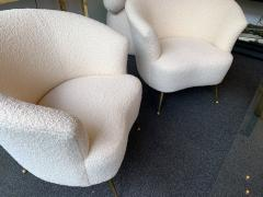 Carlo Monti Curve Living Room Set Armchairs Sofa by Carlo Monti for CMG Italy 1950s - 1258611