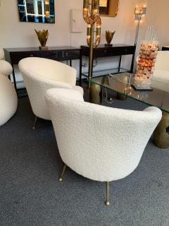 Carlo Monti Curve Living Room Set Armchairs Sofa by Carlo Monti for CMG Italy 1950s - 1258615
